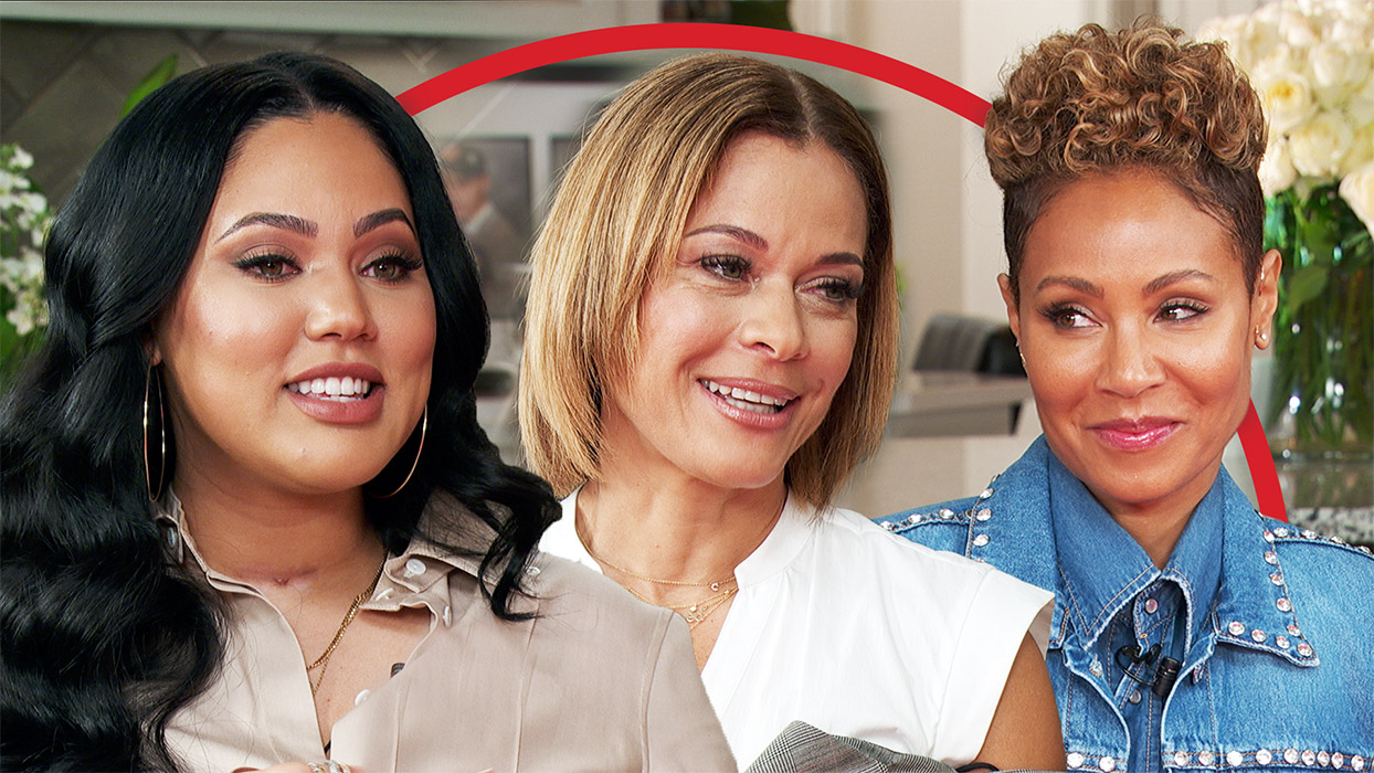 Jada Pinkett Smith with Ayesha Curry and Sonya Curry