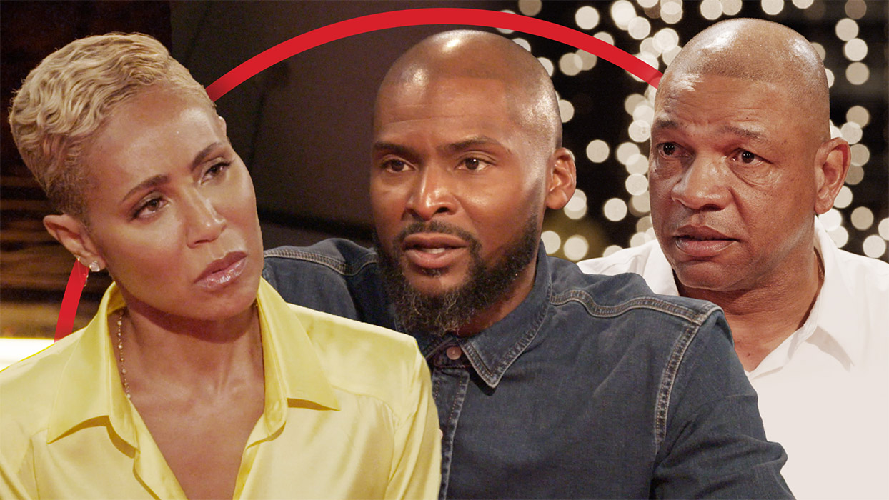Image of Jada Pinkett Smith with Former NBA player Keyon Dooling