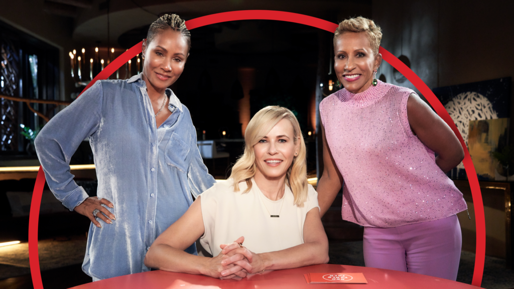 A photo of Jada Pintett Smith, Chelsea Handler, and Gammy