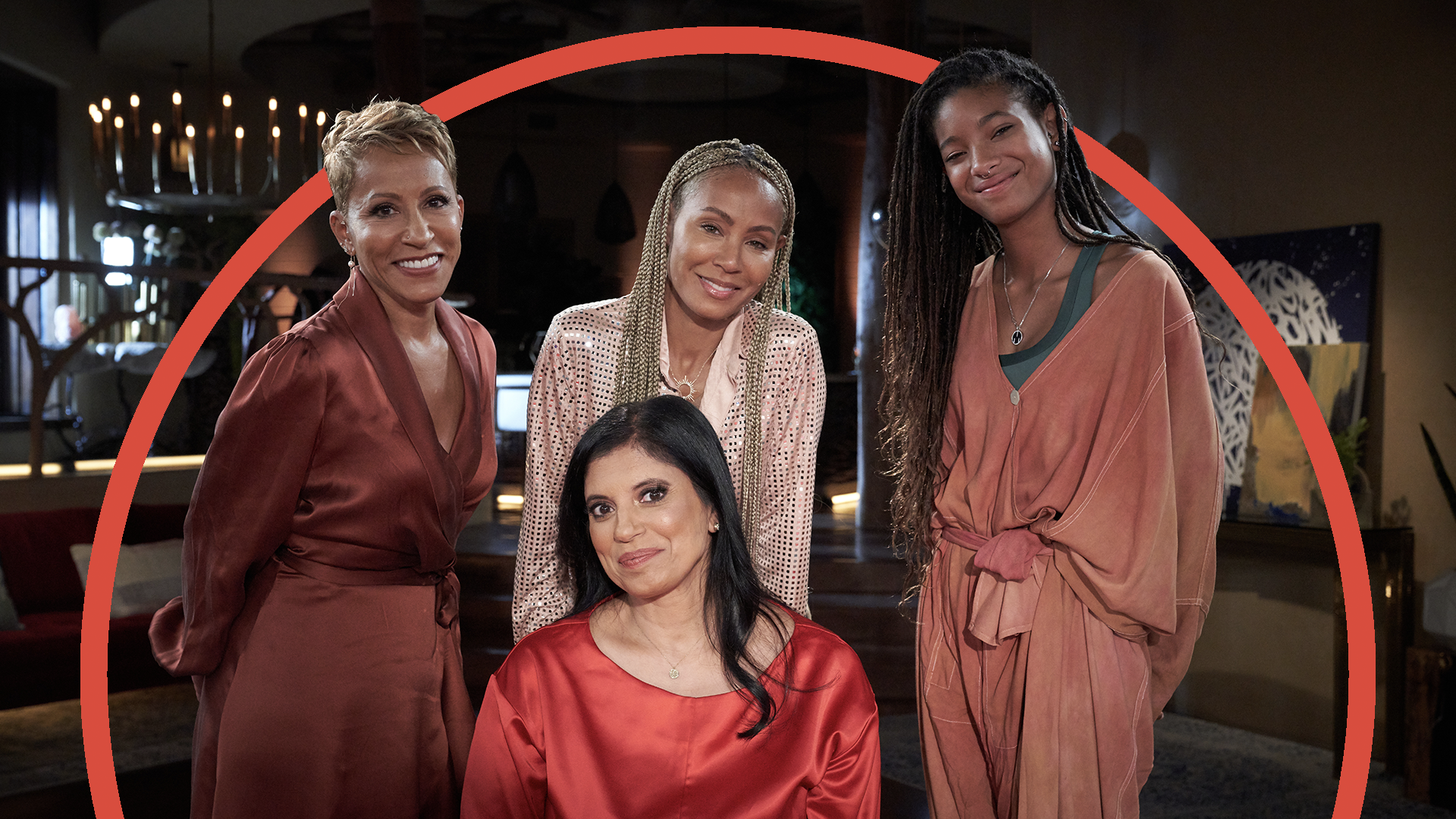 Image of Dr. Ramani Durvasula, Jada, Willow and Gammy